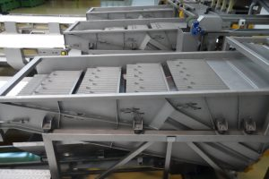 Green bean processing machines, Vibrating length grader for green bean, Selection, sorting of product.