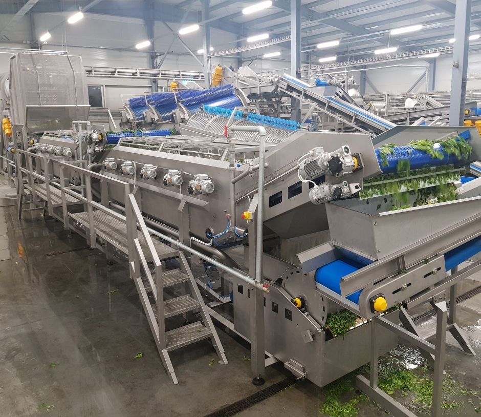 Spinach PROCESSING LINE - food processing equipment | Pollak