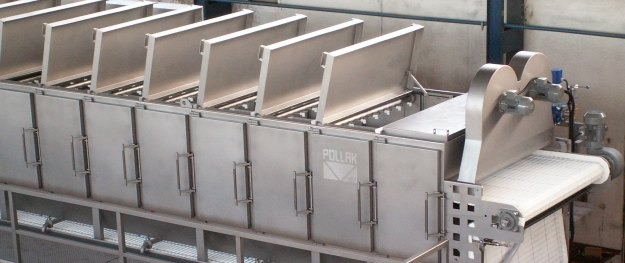 Blancher - cooler, Food processing equipment, Vegetable blancher, Blancher for food industry, Blancher for food processing.