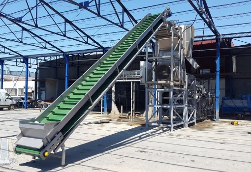Conveyors, Elevators, Industrial Vibrators, Vibration system for food industry, flat conveyors